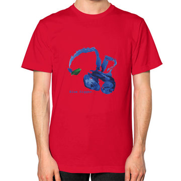 Unisex Blue Digger T-Shirt - Mens Red Blue Digger