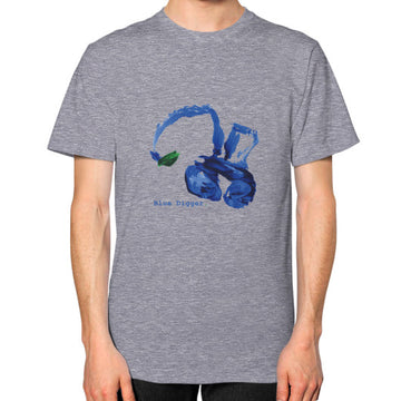 Unisex Blue Digger T-Shirt - Mens Tri-Blend Grey Blue Digger