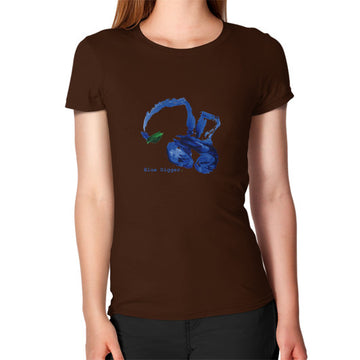 Women's Blue Digger T-Shirt Brown Blue Digger