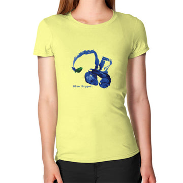 Women's Blue Digger T-Shirt Lemon Blue Digger