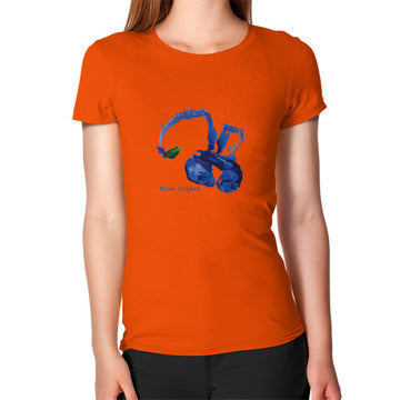 Women's Blue Digger T-Shirt Orange Blue Digger