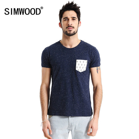2016 Brand Summer Men T shirt Short-sleeve O-neck Casual Slim T-shirts Pocket Man Tee Plus Size Camiseta Masculina TD914