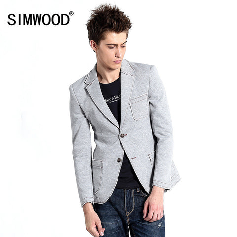 2016 New Designer Blazer Men Fashion Knitted Suit Jacket Men's Casual Slim Fit Stylish Dress Blazer Jacket For Men Free Shipping