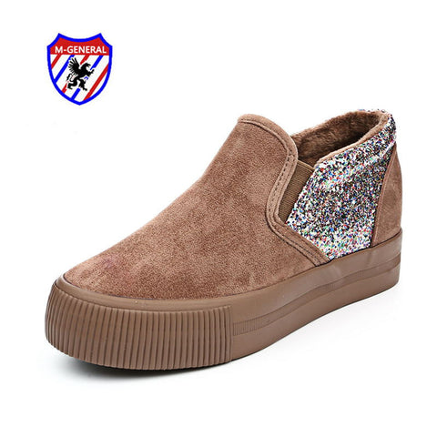 M.GENERAL Women Top Fashion Winter Style Canvas Casual Shoes 2016 New Arrival Slip-On Chaussure Femme Zapatos Mujer Dames M6899