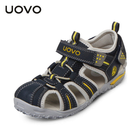 UOVO brand 2015 summer beach kids shoes closed toe sandals for boys and girls designer toddler sandals for 2 - 15 years old kids