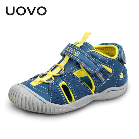 UOVO rubber closed toe sandals, children's summer sandals boys and girls fashion sandals for kids sandalias ninas 3-7 years old