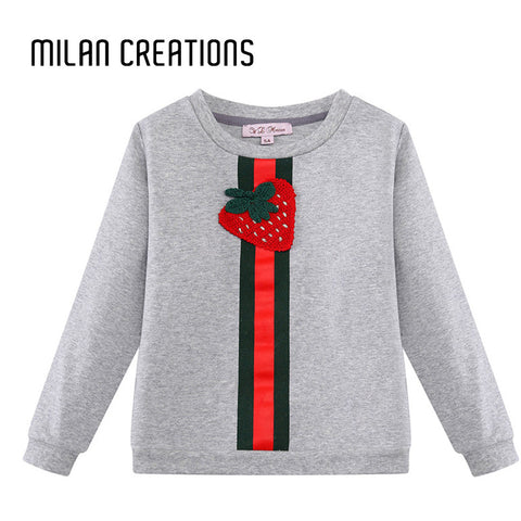 Boys Sweater Kids T-shirt  Brand 2016 Fashion Baby Boys T shirt Long Sleeve Strawberry Pattern T shirts for Boys Tops