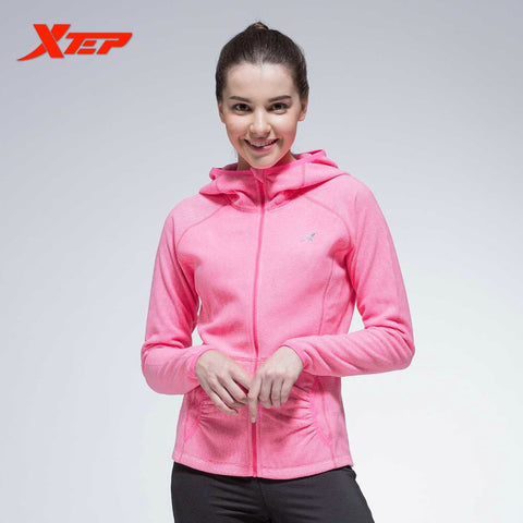 XTEP Women Running Sports Jacket Hooded Breathable Ladies Baseball Jackets Long Sleeves Athletic Coats Sportswears  884328069074