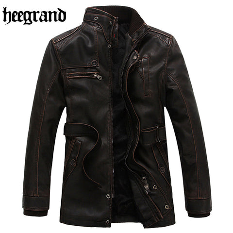 2016 New Arrive Motorcycle Leather Men Men's Leather Fashion Jacket Mens Leather High Quality Jackets Men Coats MWP278