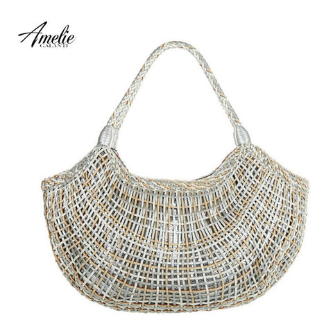 AMELIE GALANTI 2016 classic style retro woven bag knitting dumpling shaped  portable shoulder bag  free shipping