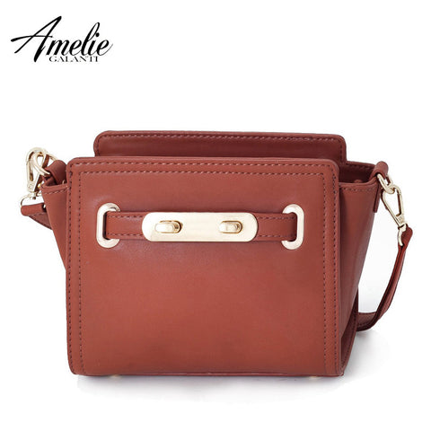 AMELIE GALANTI 2016 new fashion trapeze women shoulder bags with a pillow bag high quality PU handbag free shipping