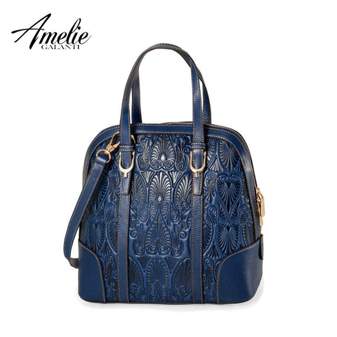 AMELIE GALANTI 2016 new Fashion   leather bag  embossed portable bag Shell package  women bag  little free shipping