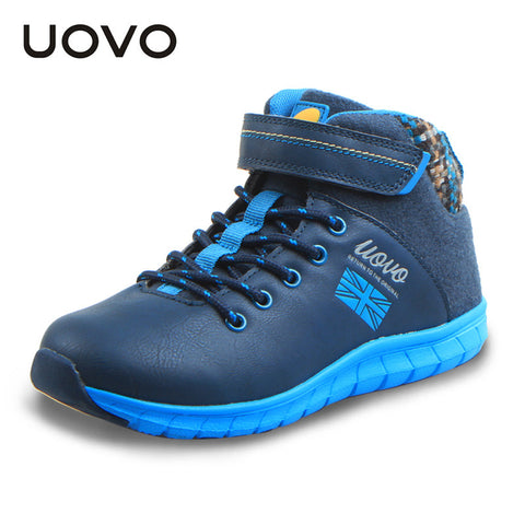 UOVO autumn winter 2016 children shoes mid-cut boys casual shoes fashion big boys shoes