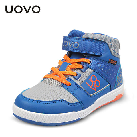 High quality UOVO shoes for children boys brand sport shoes mid-cut big kids sneakers 3 colors