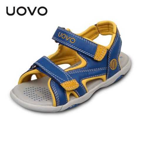 UOVO child sandals 2016 big boys sandals rubber sole children shoes open toe kids sport sandals summer boys shoes