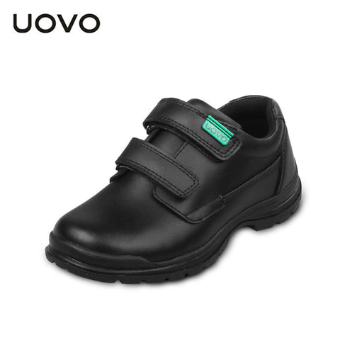 UOVO children shoes 2016 spring and autumn black genuine leather shoes school students kids shoes casual Shoes for boys