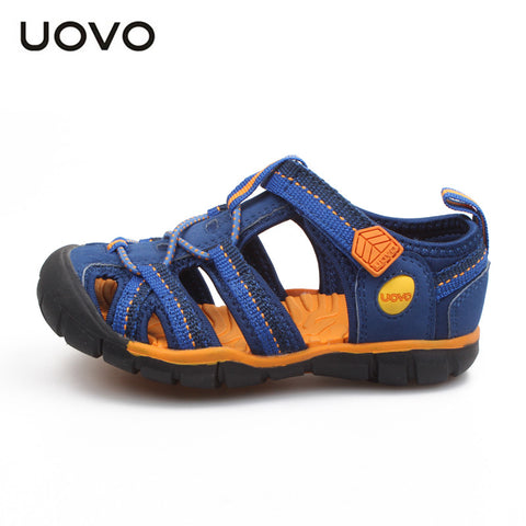UOVO 2016 fabric summer boy sandals toe wrap sandal kids shoes fashion sport sandals children sandals for boys 6-10 years old