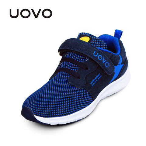 UOVO 2016 spring and autumn children breathable sport shoes fabric suede fashion kids shoes light weight boys and  girls shoes