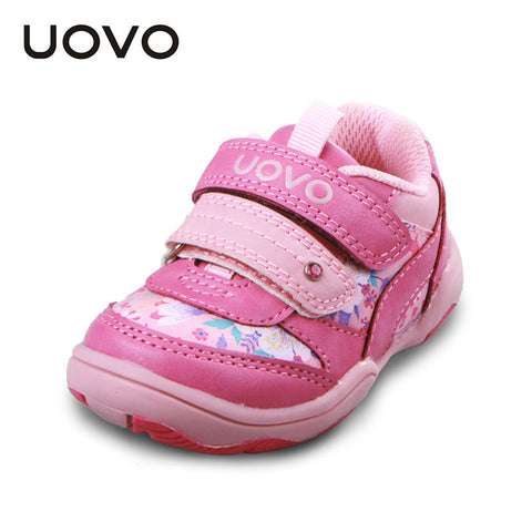 UOVO 2016 Children Girls Shoes Little Kids Shoes Baby Toddler Girls Shoes Casual Sport Shoes for girls