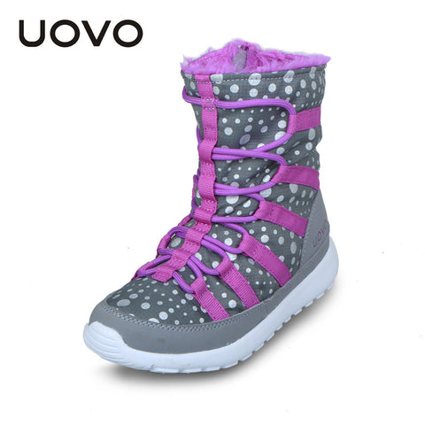 UOVO  big kids girl boots 2016 child winter boots winter children shoes fashion winter boots for girls