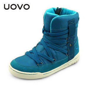 UOVO brand new fashion style children  boys and girls shoes high cut winter shoes shoe lace kids sport shoes  for 4-15 years old