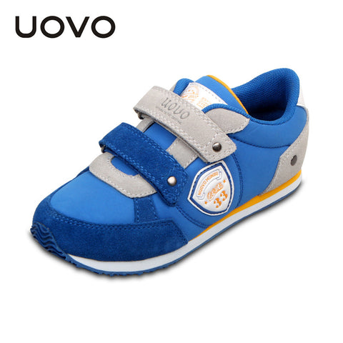 UOVO Brand Casual Sport Light Weight EVA Down Cloth Two Straps Boys Girls Shoes Blue Yellow Pink for toddler little big kids