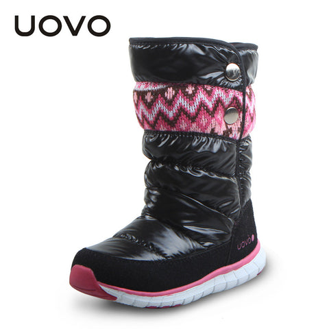 UOVO 2016 newest girls boots oxford cloth kids boots girls winter shoes childredn shoes girls boots