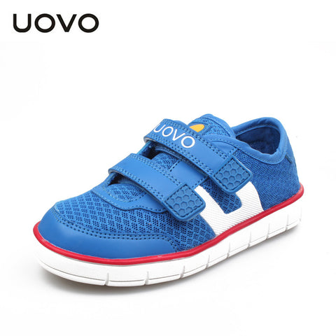 UOVO 2016 breathable children shoes summer sport shoes for girls and boys flat kids fashion sneakers Boys mesh shoes