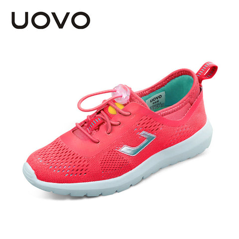 UOVO boys and girls sneakers fashion casual shoes summer breathable mesh sports shoes  for kids for 6-12 years old