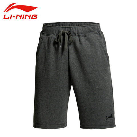 LI-NING Men Basketball Shorts Wade 81% Cotton 19% Polyester Solid  Light Dry Fast Dry Fit Sport Shorts LINING AKSJ081 MKY141