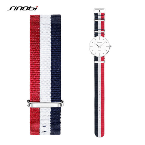 20mm and 22mm Nato Watchband Men Women Colorful Sport Nylon Strap  Bracelets Lady Sliver Buckles For casual canvas Watch Strap