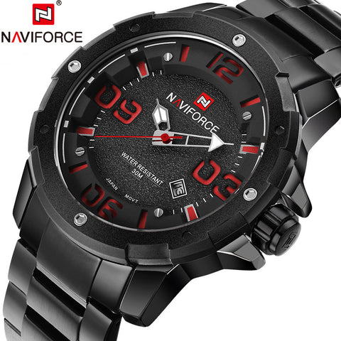 2016 New Men Luxury Brand Full Steel Army Military Watches Men's Quartz Hour Clock Watch Sports Wrist Watch relogio masculino