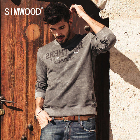 SIMWOOD Brand 2016 New Autumn Winter Sweatshirts men fashion causal warm  hoodies long sleeve WY3006