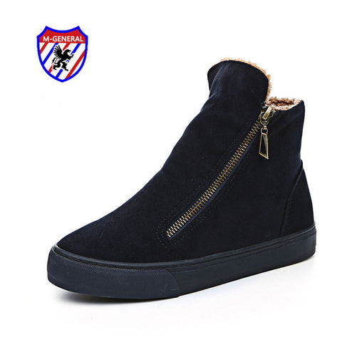 M.GENERAL New Winter Style Women Fashion Ankle Boots Casual Canvas Zipper Shoes New Arrival Walking Sapatos Scarpe Donna M6891