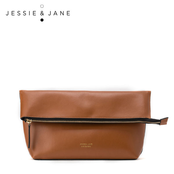 JessieJane Fashion Bags Genuine Leather Fold over Crossbody bags Jane Style 1065