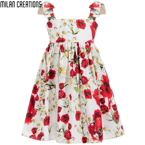 Milan Creations Baby Girls Dress 2015 Brand Winter Kids Dresses for Girls Letter Pattern Kids Clothes Children Dress Princess