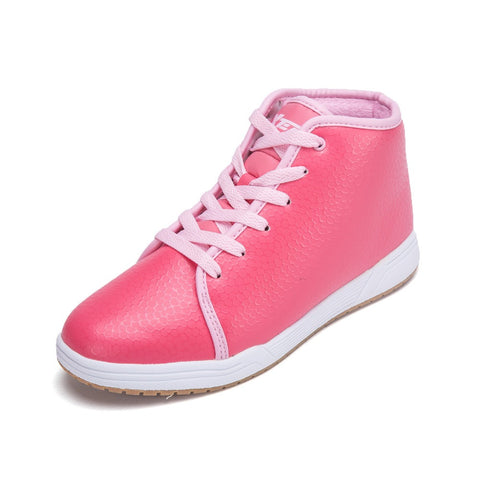 100% Original Xtep 2015 Women's Fashion Skateboarding SB Shoes Sneakers PU Leather High-tops Skatebord Lady Sport Training Shoes