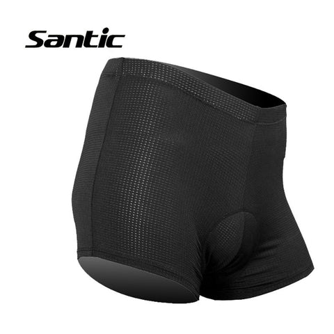 Men Santic Padded Cycling Briefs Mens Knickers Underwear Protective Padded Gel Cycling Bike Shorts hombre Base Shorts WC06003