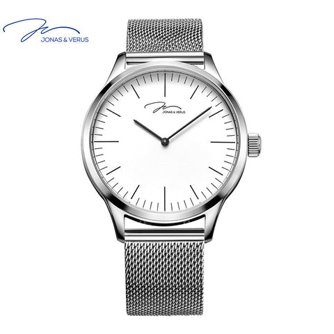 Big Sale VERUS ultra-thin  quartz watch men stainless steel braid watch support waterproof  for Business and Sport with Gift Box