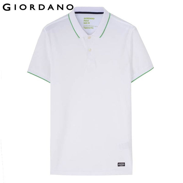 Giordano Men Fast Dry Polo Slim Breathable Solid Polo Shirt for Men Male Short Sleeve Tops Brand Sport Polos Camisa Polo