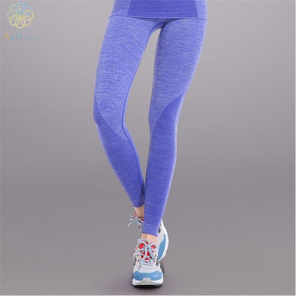 2016 Exclusive Starter Section Dyeing Technology Women Sports Pants Capri Gym Fitness Running Yoga Trousers Spandex Tights