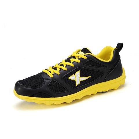 2015 NEW Xtep Running Shoes for Men Athletic Sport Shoes Sneaker Breathable Black Grey Runner Shoes Official Store 986219119253