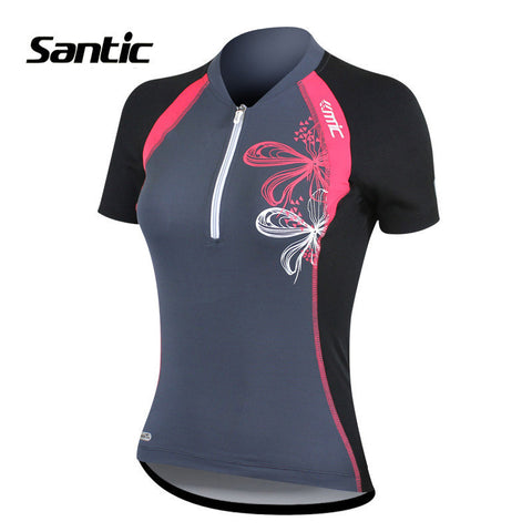 2016 Santic Funny Cycling Jerseys Short Sleeve Wear Women Breathable Bicycle Clothing Jerseys Bike Summer Shirts LC02035G