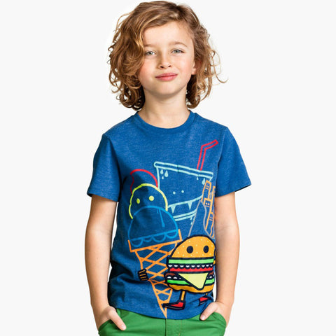 Boys Tops Baby Boys T shirt 2016 Summer Fashion Kids T-shirt Boys Clothes Character Pattern Brand Children T shirts for Boys