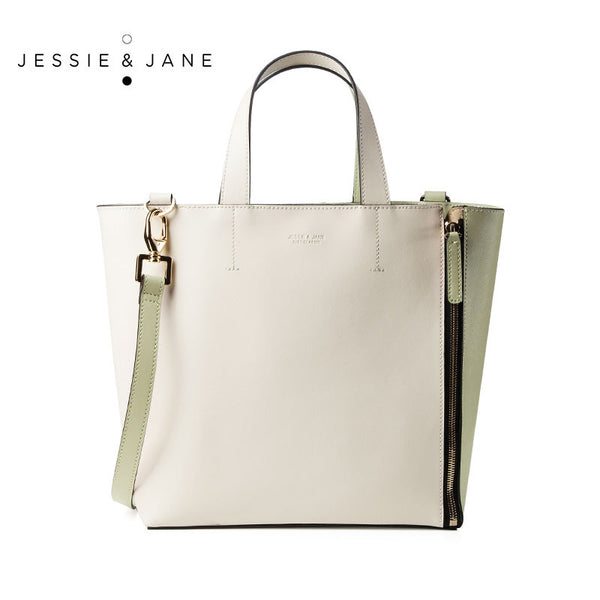 JESSIE&JANE Designer Brand 2016 New Capetown Series Double-Faced Pannelled Stylish Women Leather Should Bags 1299
