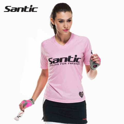 2016 Santic Women Cycling Compression Base Layer Cool Pink Short Sleeve Women Short Sleeve Cycling Jerseys Sports Women WLC02066