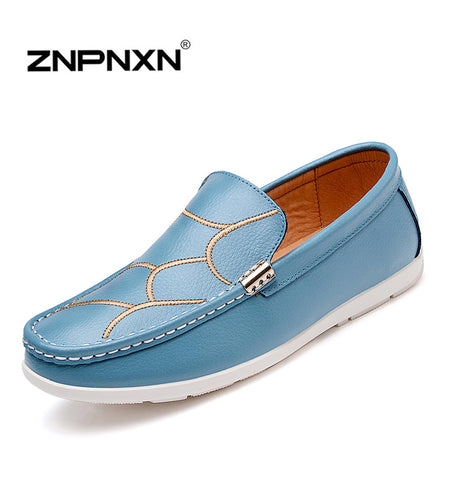 15 Hot ZNPNXN Men Shoes  Male Fashion Spring Autumn Leather Shoe For Men Casual High Top Shoes Canvas Sneakers