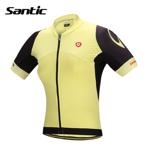 2016 Santic Summer Women Cycling Jersey Sets Shorts Short Sleeve Jersey Pro Fit Fitting Yellow Cycling Clothing Sets L5CT050Y