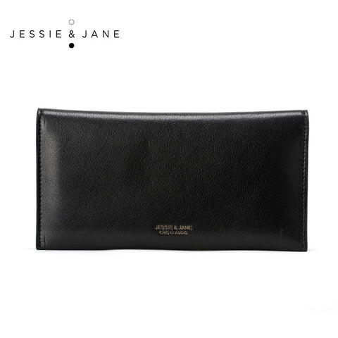 JESSIE JANE Women Purse 2016 New Fashion Solid Genuine Leather Wallet