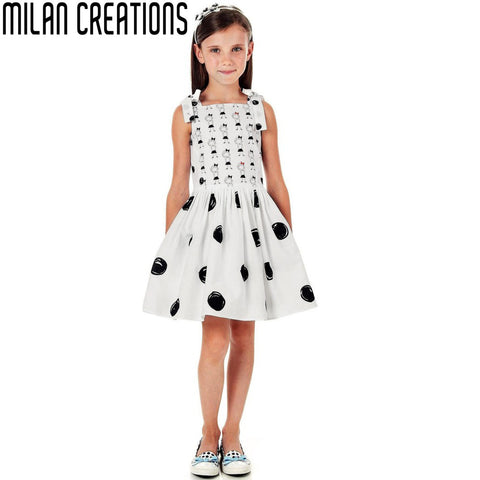 2015 New Vestidos Girls Summer Dress Cornation Flower Pattern Children Dress Kids Princess Dresses Brand Baby Girls Dress
